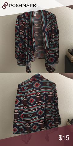 Western Print Women's Cardigan Women's Tribal Print Cardigan. Sleeves are very fitted Sweaters Shrugs & Ponchos