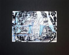 Sans titre. Années 1960. Monotype et feutre sur papier. 21,3x30,6 cm. S.B. 59,7x37,4 cm.
