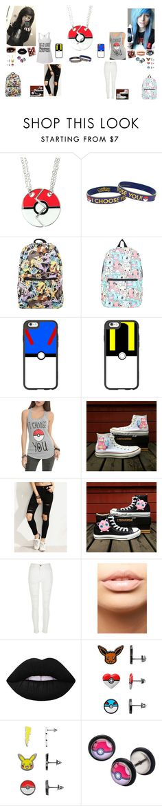 """""""Pokemon BFFs"""" by kristina-shadowheart ❤ liked on Polyvore featuring Nintendo, Casetify, Converse, River Island, MDMflow, Lime Crime and Ball"""