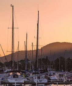 Sant Carles de la Ràpita #village #boats #sunset #landscape