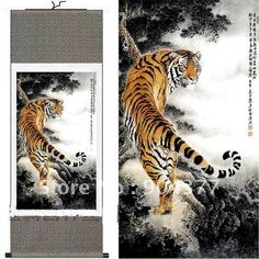 Asian Tiger Drawings | Traditional Japanese Tiger Paintings Tiger paintings size l 40