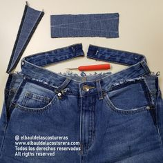 Cómo aumentar la cintura de un pantalón vaquero Jeans Denim, Mom Jeans, Couture Sewing, Knitted Slippers, Clothes Crafts, Fashion Sewing, Refashion, Sewing Hacks, Custom Clothes