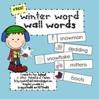 Freebie! This download includes 35 winter words with pictures.  Place the cards on your word wall or in a pocket chart to encourage winter writing!  You can...