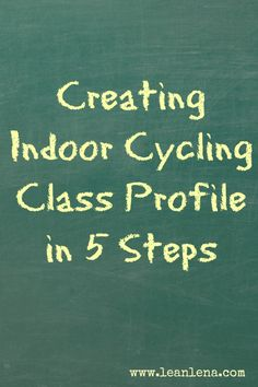 Creating indoor cycling class profile can be a daunting task not just for new but also for experienced instructors. Make it easier by following these steps.
