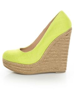 Yellow neon espadrille.. Want. Right. Now