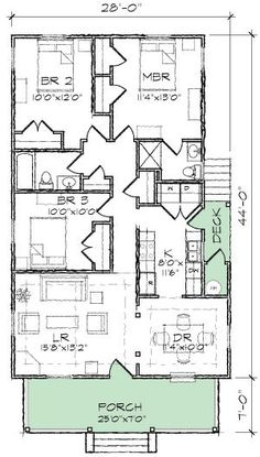Classic Single Story Bungalow - 10045TT | Cottage, Country, Craftsman, Narrow Lot, Photo Gallery, 1st Floor Master Suite, CAD Available, PDF | Architectural Designs