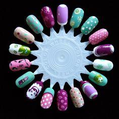 so girly and cute nail art from Lynniebeaut.ienailart