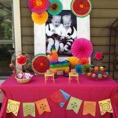 Fiesta Dessert Table By Sweet Rubia Izzys Birthday