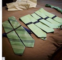 Potential groom tie colors to match the bridesmaid dresses