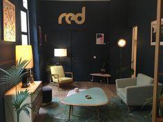 appartement red murs bleur foncé
