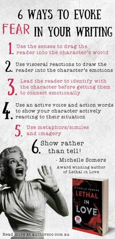 6 Tips from Award Winning Author Michelle Somers on creating fear in your…