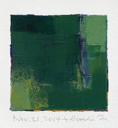 Nov. 21, 2014 - Original Abstract Oil Painting - 9x9 painting (9 x 9 cm - app. 4 x 4 inch) with 8 x 10 inch mat