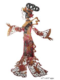 Chinese Opera Colorful Shadow Puppetry Art - Golden Lotus Antiques