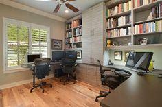 Home office idea- window desk storage