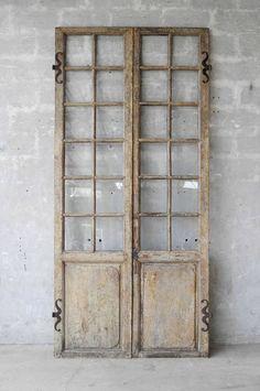 Pair of 18th Century Walnut French Doors image 2