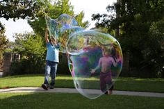 DIY Giant Bubble Wand