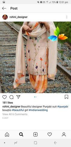 Designer Punjabi Suits, Patiala, Long Tops, Kimono Top, Beautiful, Women, Fashion, Moda, Fashion Styles