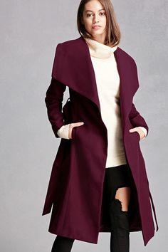 Wide Lapel Self-Tie Coat