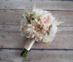 Blush Pink and Ivory Garden Rose Dahlia and Peony Wedding