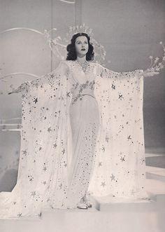 """Hedy Lamarr in design by Adrian.  """"Ziegfield Girl"""", 1941."""