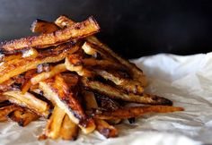 Spicy Roasted Daikon 'Fries' by cookingontheweekends: roasted and doused in sweet and spicy flavors. #Daikon #Fries