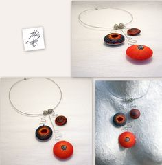 yes, it is polymer clay, yes it is magic, yes it is art - jewelry pieces by Martina Buriánová