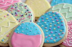 easter egg sugar cookies | Easter Egg Sugar Cookies