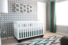 Modern Gray and Teal Gender Neutral Nursery - Project Nursery