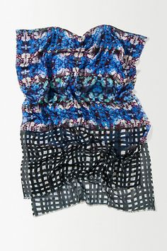 Bluebell Grid Scarf #anthropologie #amysia