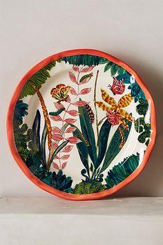 Francophile Dinner Plate - anthropologie.com