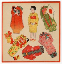 Asian paper doll & clothes from marualidadesmussola.com