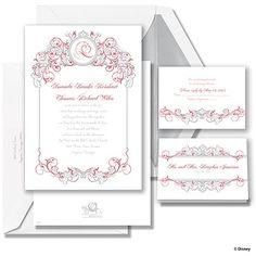 Fairy Tale Filigree Wedding Invitation - Snow White