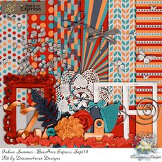 Dreamn4ever Designs: Blog Trains. Scrappy Bee Sept14: Indian Summer. *