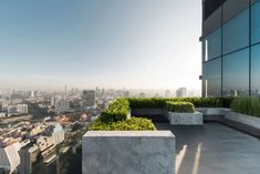 House Plant Maintenance Tips M Silom Landscape Design By Trop Terraced Landscaping, Sky Garden, Rooftop Terrace, Rooftop Gardens, Space Photos, Outdoor Seating, Modern Architecture, Landscape Design, Mansions