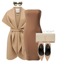 Untitled #3246 by stylebydnicole on Polyvore featuring Forever New, Yves Saint Laurent and Anna-Karin Karlsson