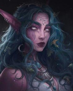 Fairy illustration, elves, blue hair, fantasy art, World of Warcraft HD wallpaper Elfa, Dark Fantasy Art, Fantasy Girl, Final Fantasy, World Of Warcraft Wallpaper, Elfen Fantasy, War Craft, Warcraft Art, Warcraft Legion