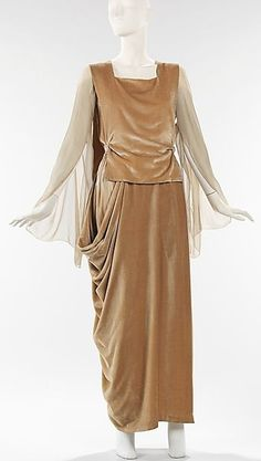 ~Evening dress Date: ca. 1918 Culture: French Medium: silk~