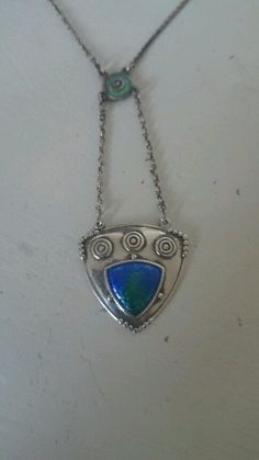 Charles horner silver and enamel art nouveau necklace