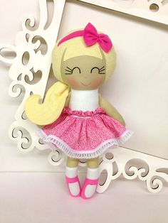 Handmade Dolls Homemade Dolls Cloth Doll Fabric by SewManyPretties, $44.00
