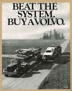 Beat the System, buy a Volvo, 1971