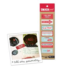 K and Company - SMASH Collection - Stickies - Red and Blue Stickers at Scrapbook.com