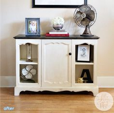 vintage stereo makeover into media console | betterafter.net
