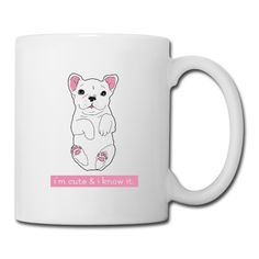 Cute Frenchie Puppy / Bulldogge Welpe Tasse | TooCute