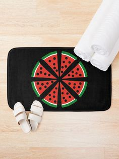 """Watermelon Slices"" Bath Mat by Pultzar 