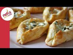 Peynirli Pide Poğaça (Sesli Anlatımı ile) | Nefis Yemek Tarifleri - YouTube Turkish Snacks, Turkish Recipes, Ethnic Recipes, Savory Pastry, Good Food, Yummy Food, Tea Time Snacks, Greek Cooking, Arabic Food