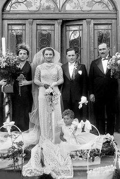 +~+~ Vintage Photograph ~+~+ Elaborate Wedding