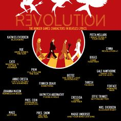 REVOLUTION (The Hunger Games Characters In Beatles Lyrics) by the ever-talented V.