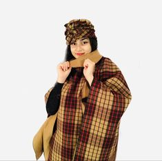 Wool woman poncho with hat .Warm, comparable and easy to wear #wool#woman#poncho#handmade#hat#design#sewn#style#girl#gift#wear#warm#comparable#beautiful#winter#classic#vintage#fashion Wool Poncho, Girl Gifts, Classic Style, Etsy Seller, Vintage Fashion, Punk, Plaid, Woman, Trending Outfits