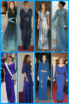 royalsandquotes:  Royal Ladies in BLUE (and purple) - Queen Rania of Jordan