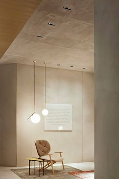 Another example of one of Michael Anastassiades's pendant fixtures. This one has a more delicate, less masculine appearance.